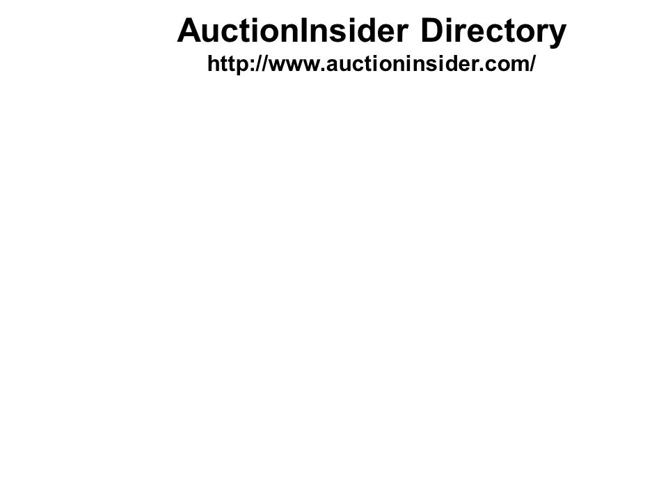 AuctionInsider Directory