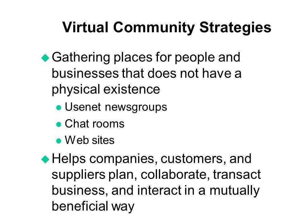 Virtual Community Strategies
