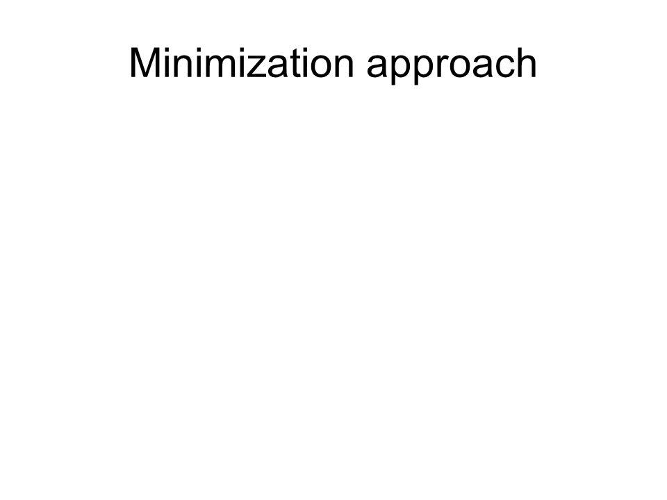 Minimization approach