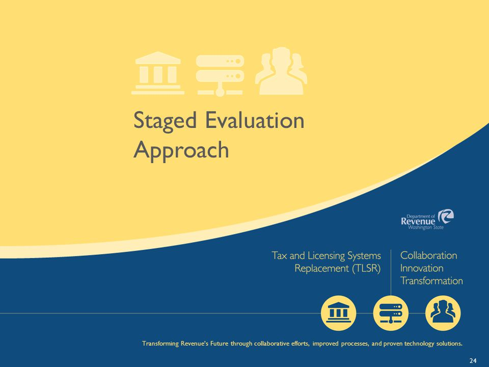 Staged Evaluation Approach