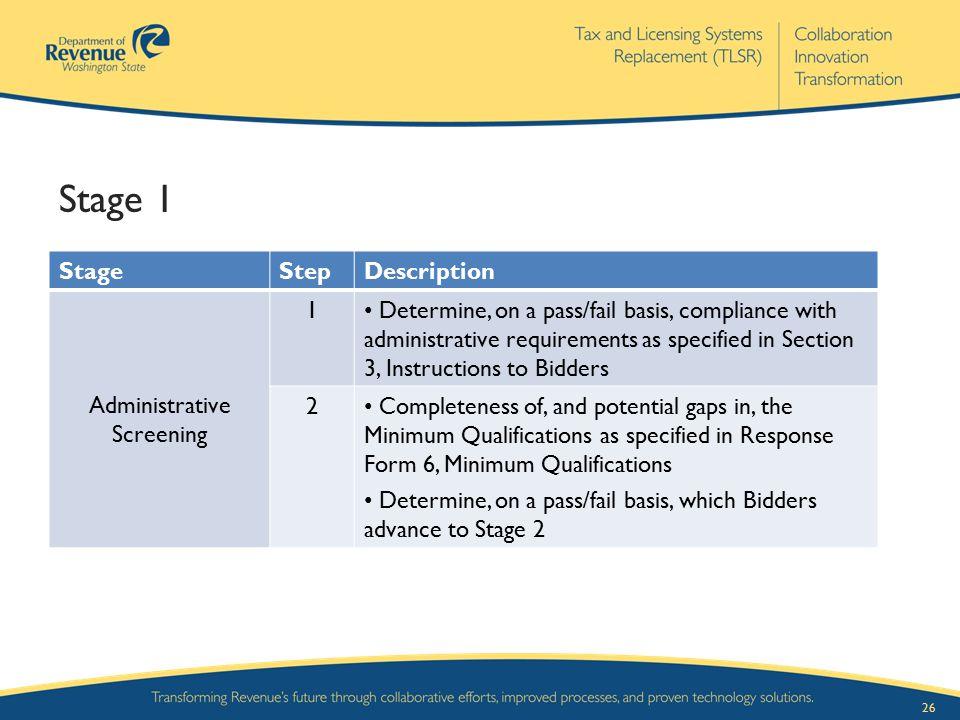 Administrative Screening