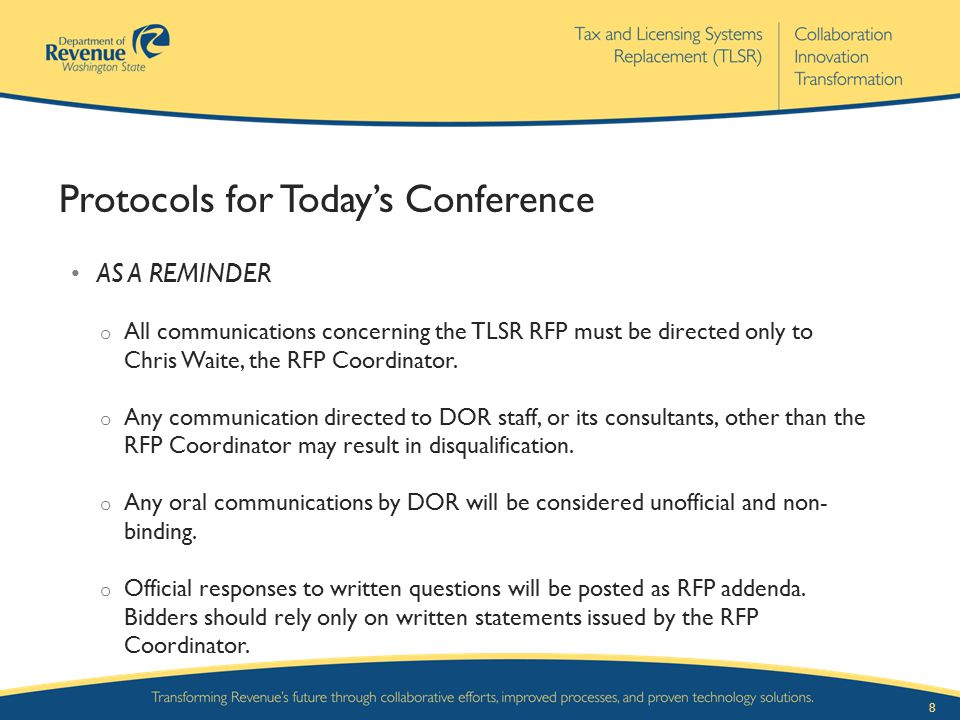 Protocols for Today's Conference