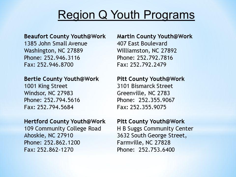 Region Q Youth Programs