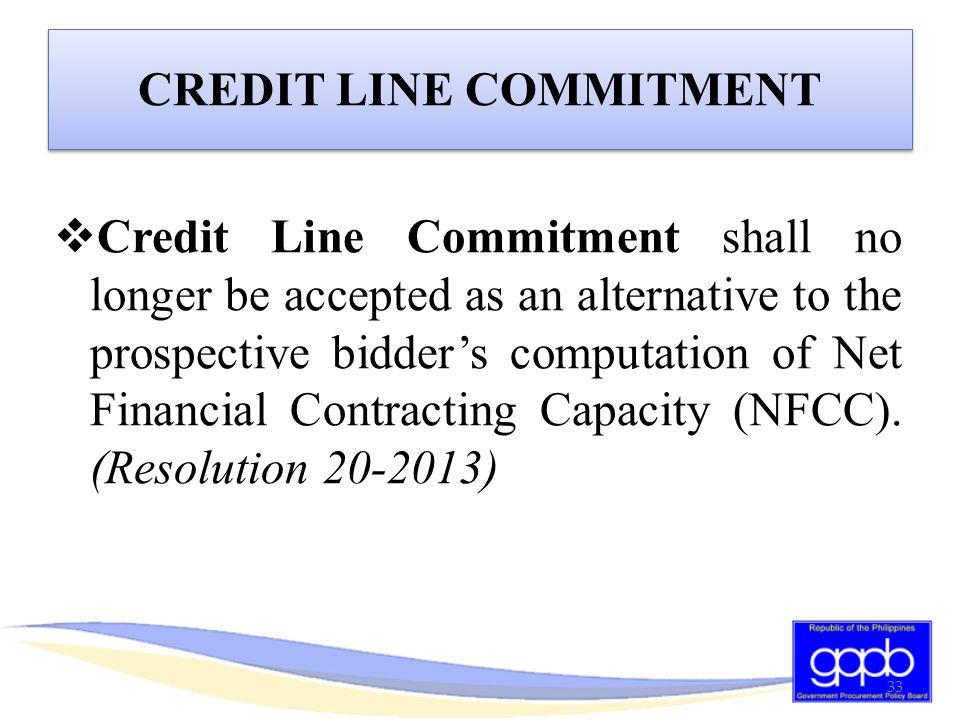CREDIT LINE COMMITMENT