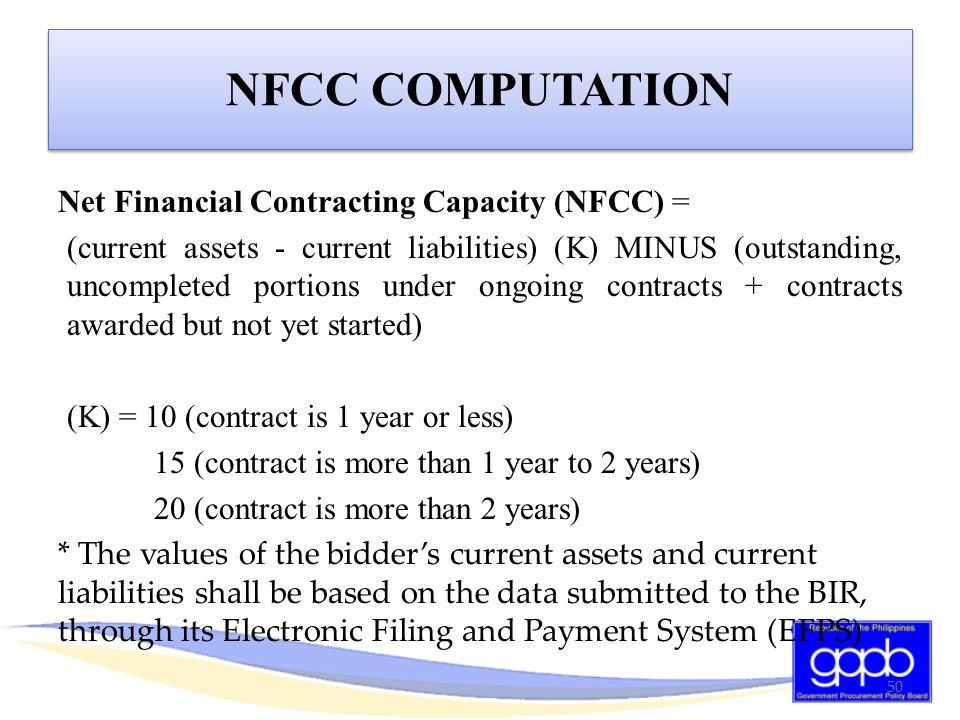 NFCC COMPUTATION