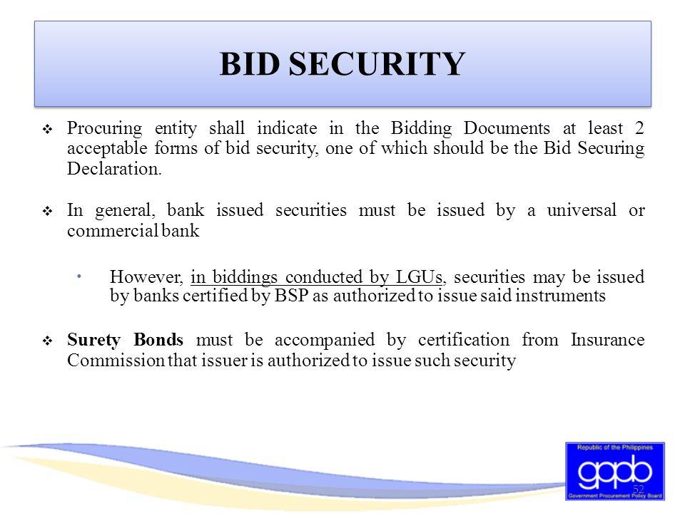 BID SECURITY