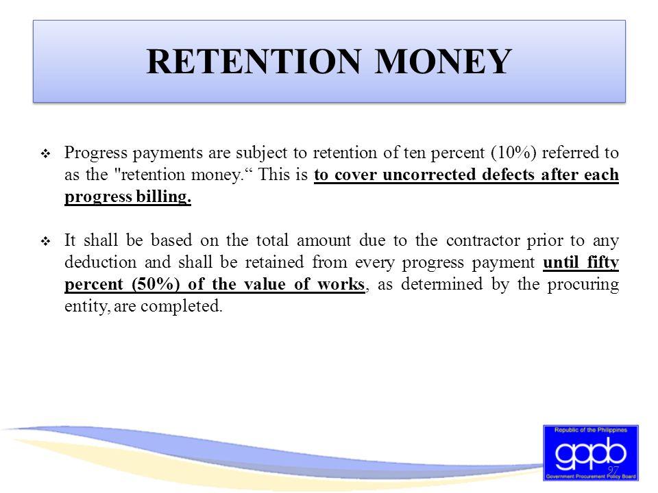 RETENTION MONEY