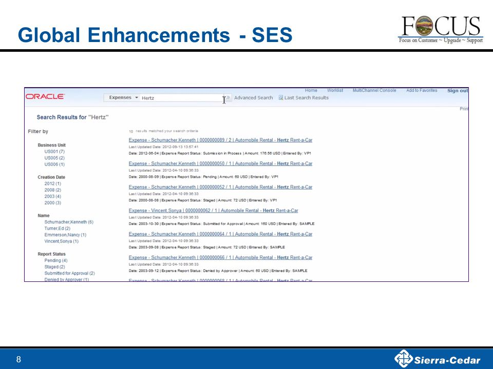 Global Enhancements - SES