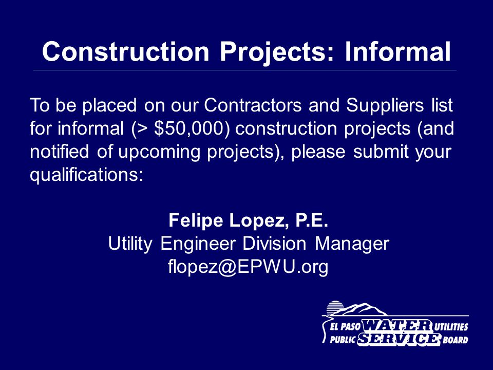 Construction Projects: Informal