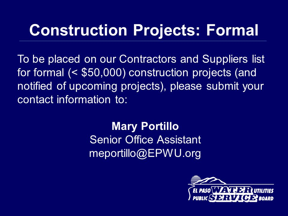 Construction Projects: Formal