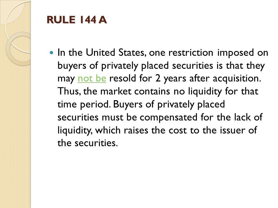 RULE 144 A