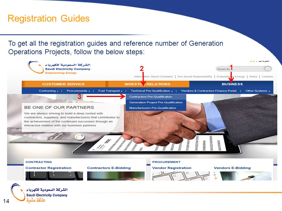 Registration Guides To get all the registration guides and reference number of Generation Operations Projects, follow the below steps: