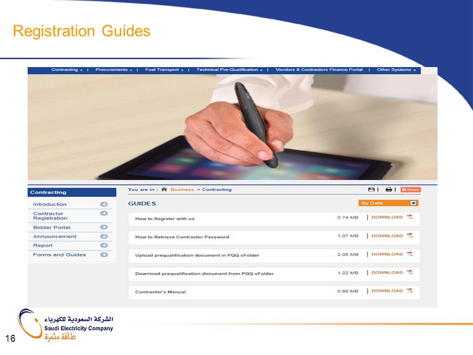 Registration Guides