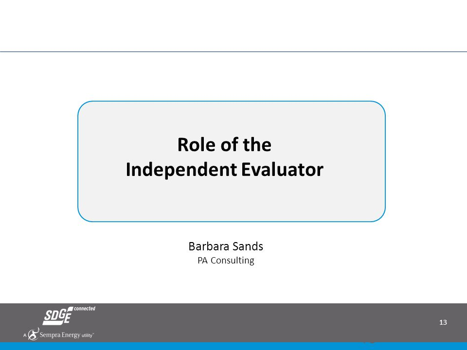 Role of the Independent Evaluator