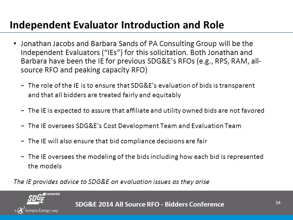 Independent Evaluator Introduction and Role