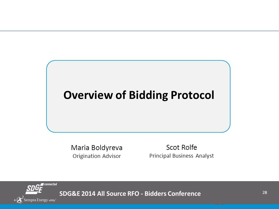 Overview of Bidding Protocol