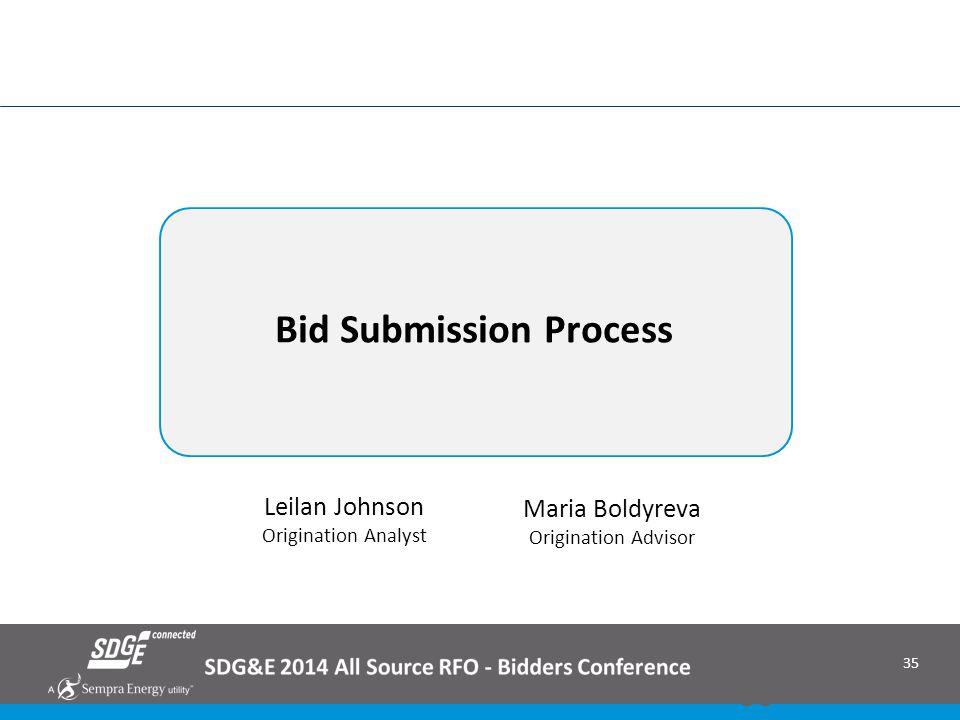 Bid Submission Process