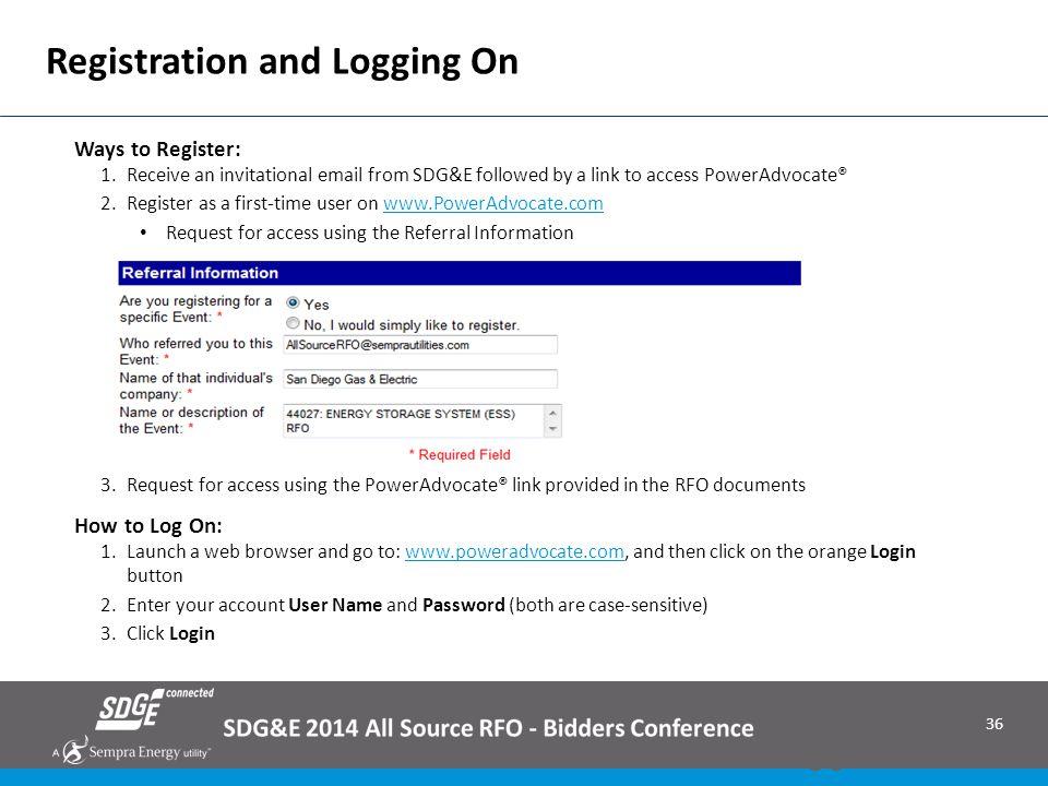 Registration and Logging On