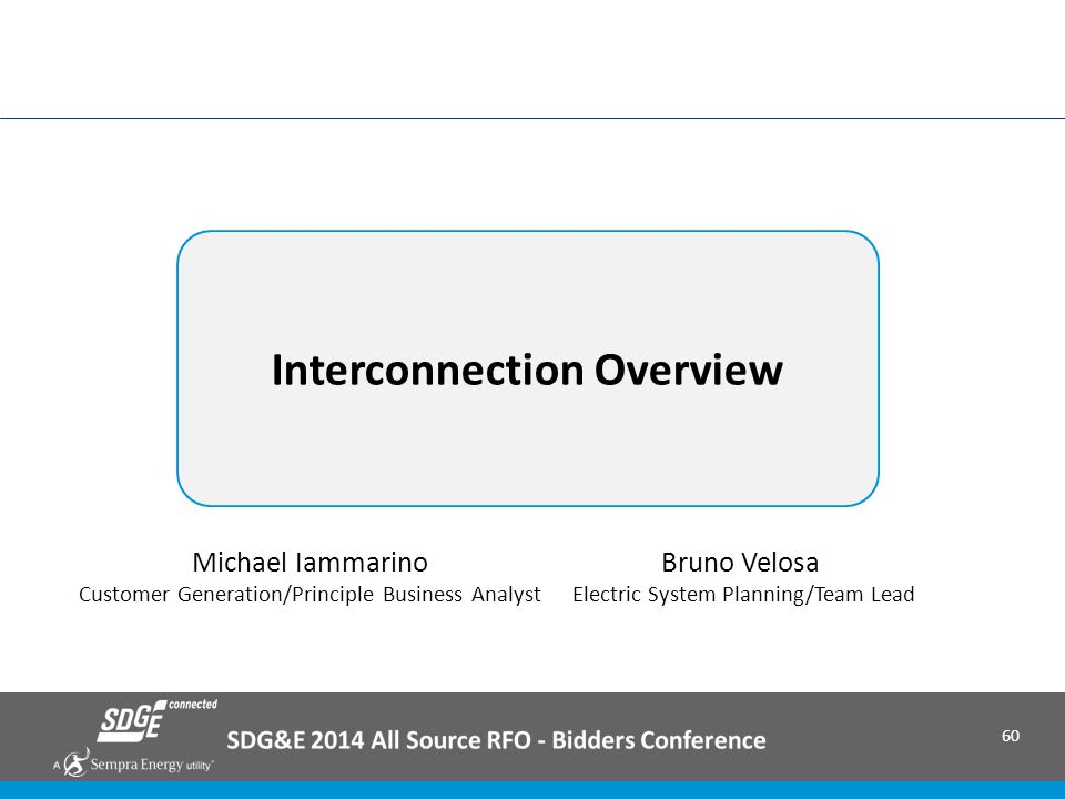 Interconnection Overview