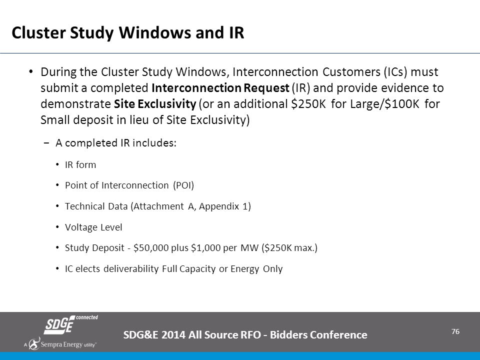 Cluster Study Windows and IR