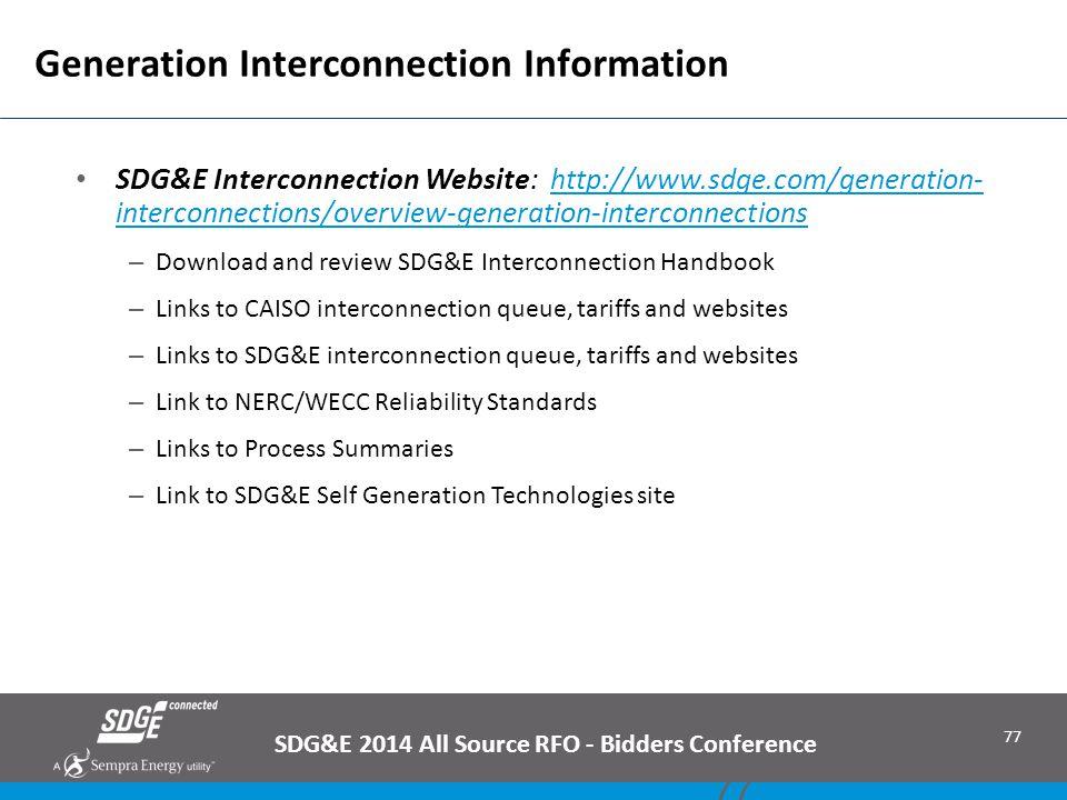 Generation Interconnection Information