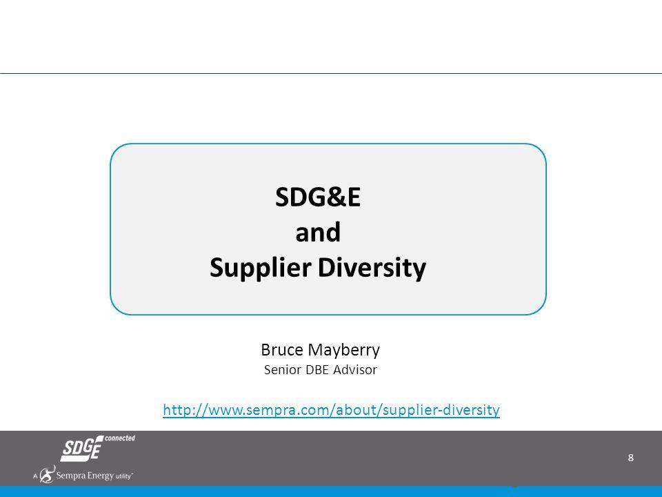 SDG&E and Supplier Diversity