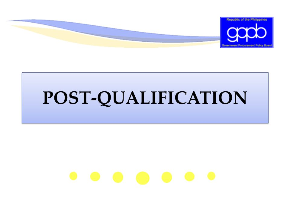 POST-QUALIFICATION