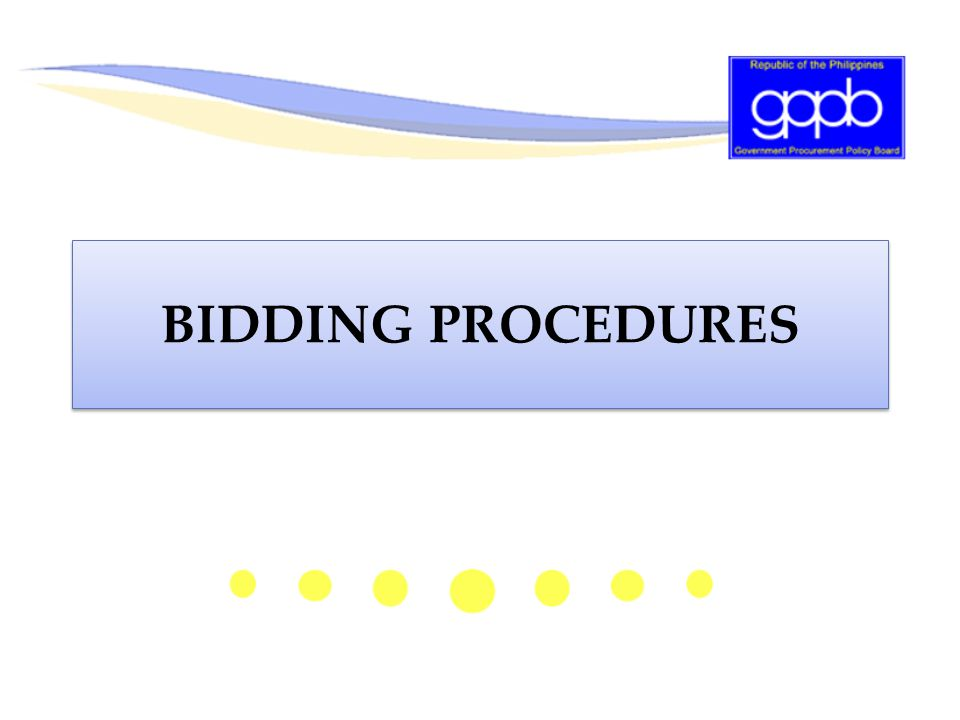 BIDDING PROCEDURES