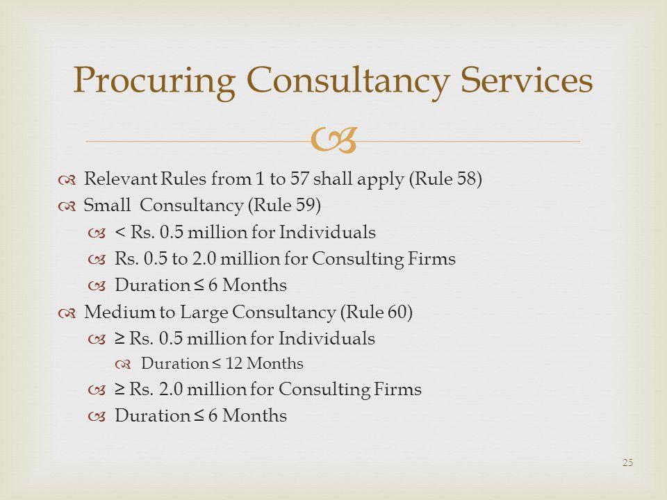 Procuring Consultancy Services