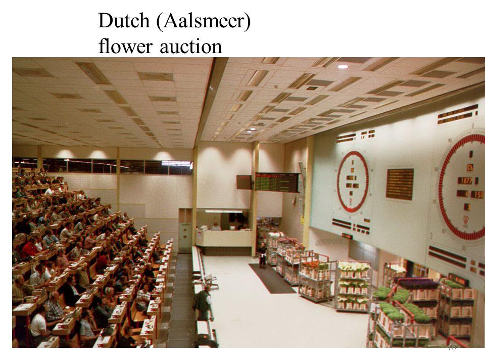 Dutch (Aalsmeer) flower auction