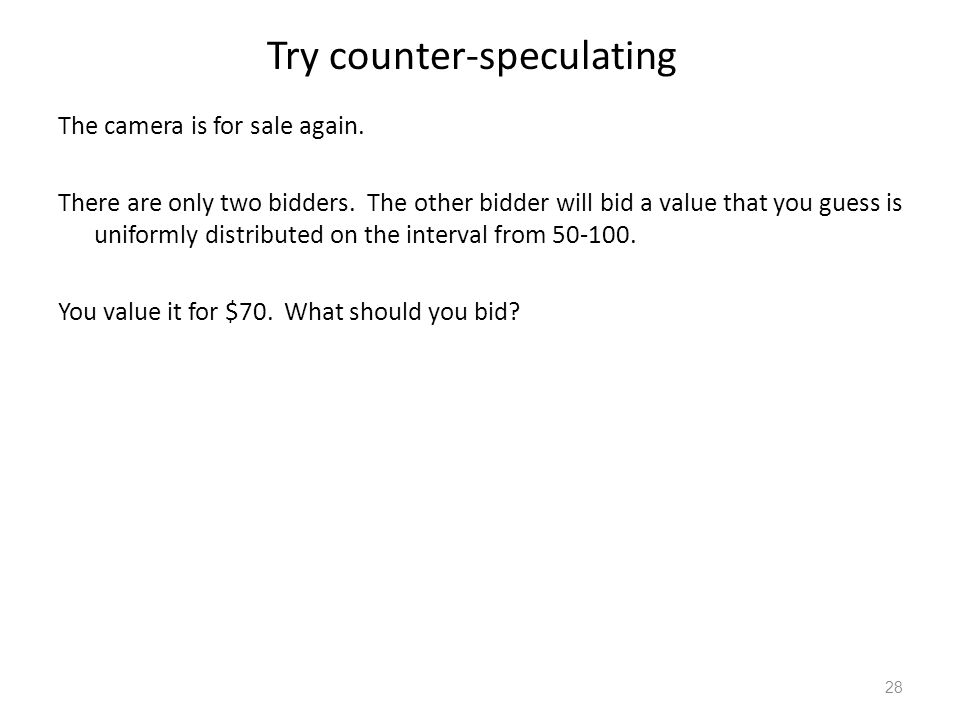 Try counter-speculating