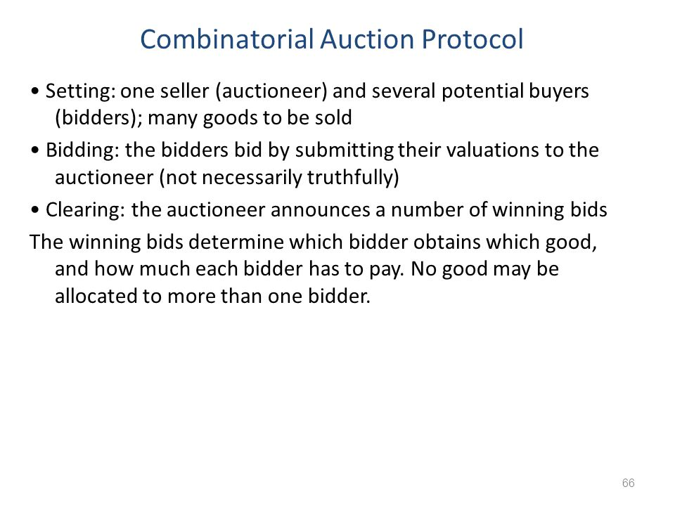 Combinatorial Auction Protocol