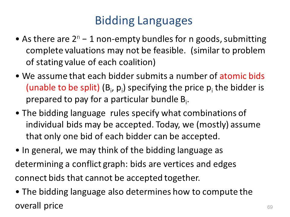 Bidding Languages