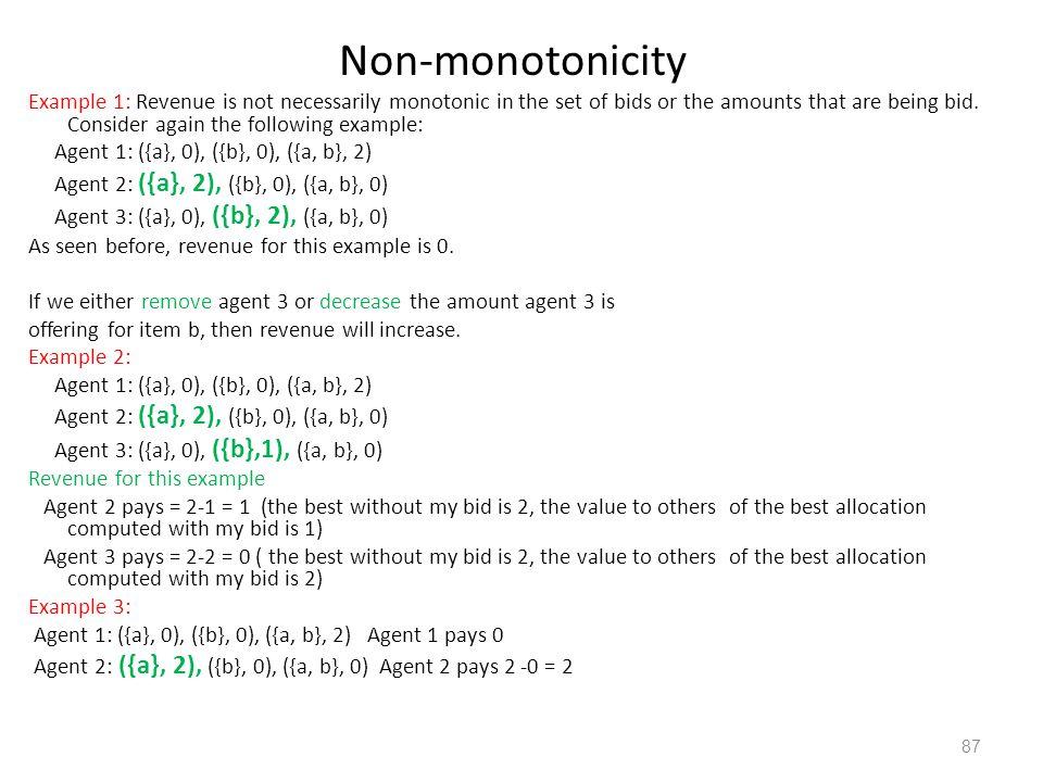 Non-monotonicity