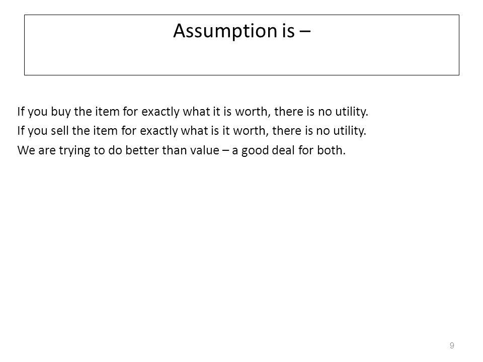 Assumption is –