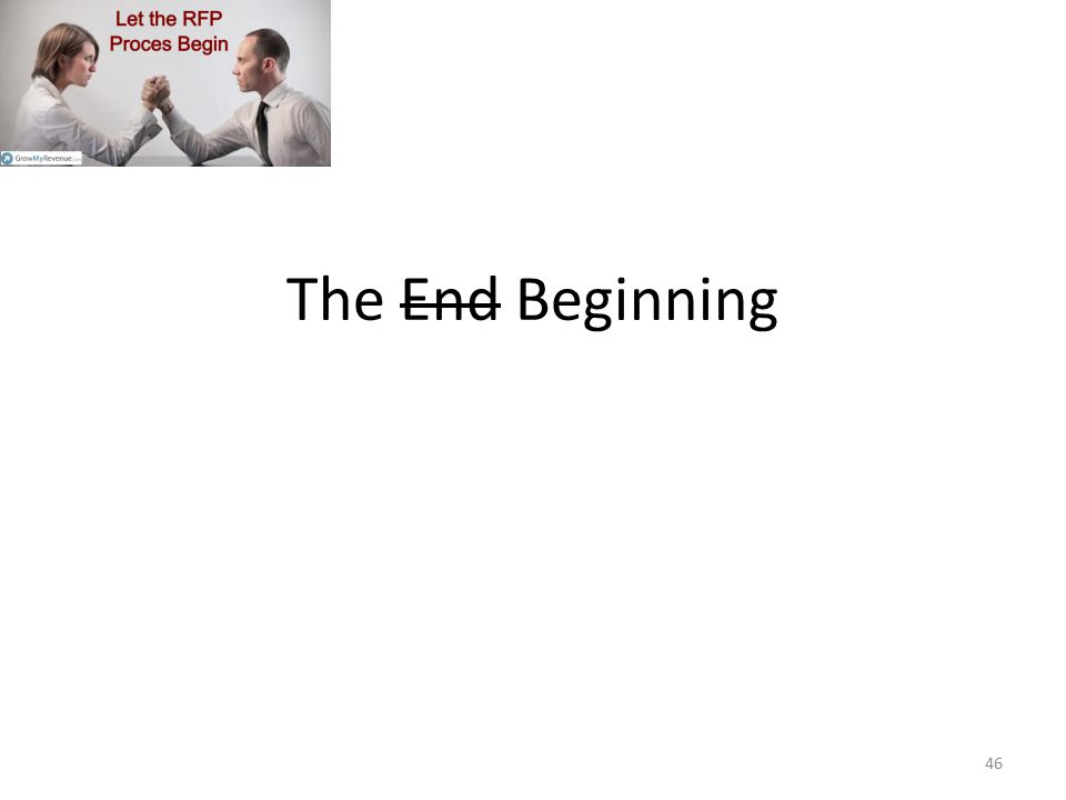 The End Beginning Check with your legal.