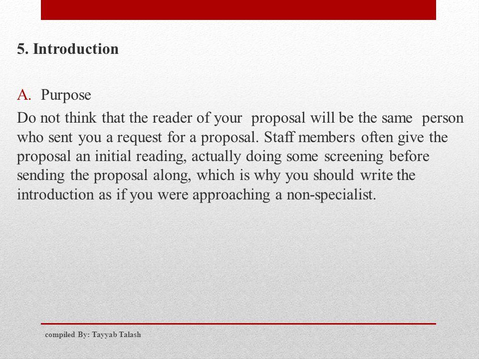 5. Introduction Purpose.