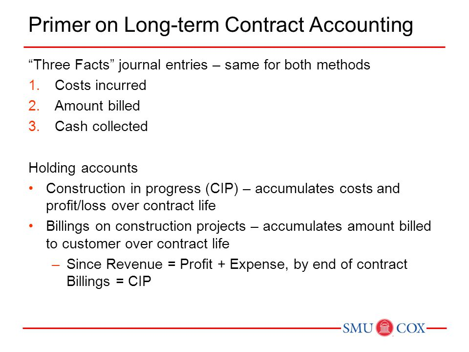 Primer on Long-term Contract Accounting