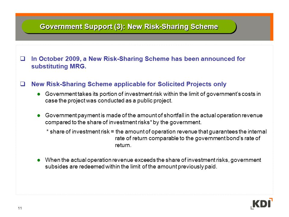 Government Support (3): New Risk-Sharing Scheme