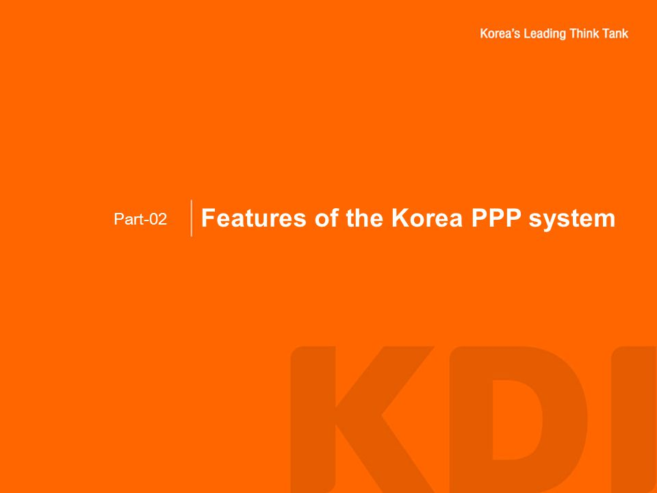 Features of the Korea PPP system