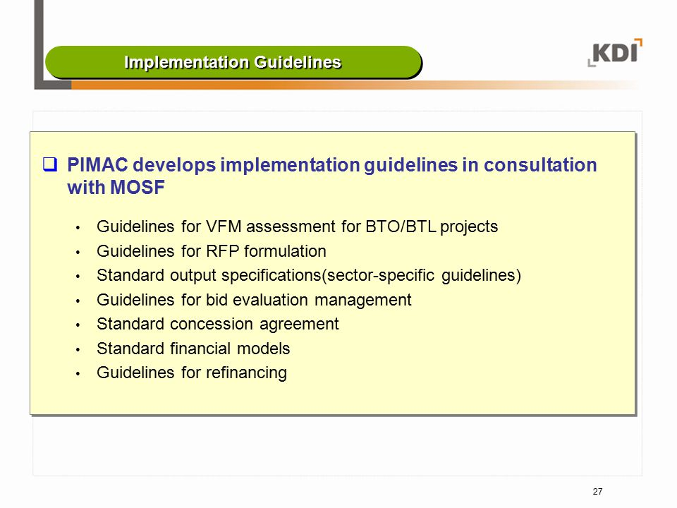 Implementation Guidelines