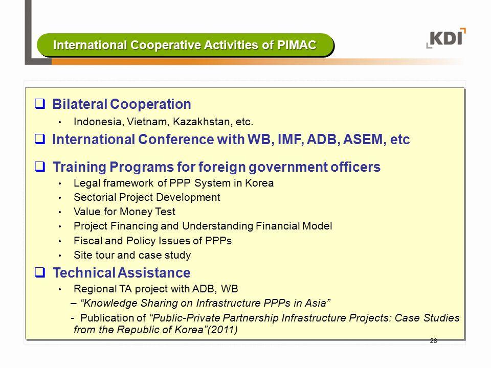 International Cooperative Activities of PIMAC