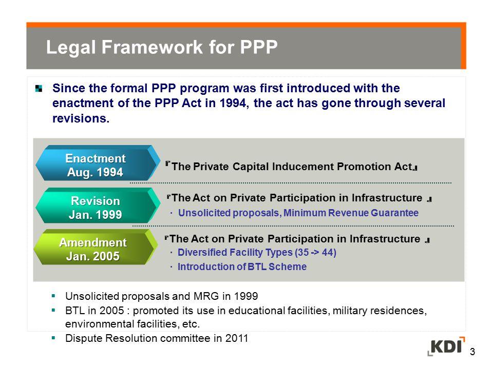 Legal Framework for PPP