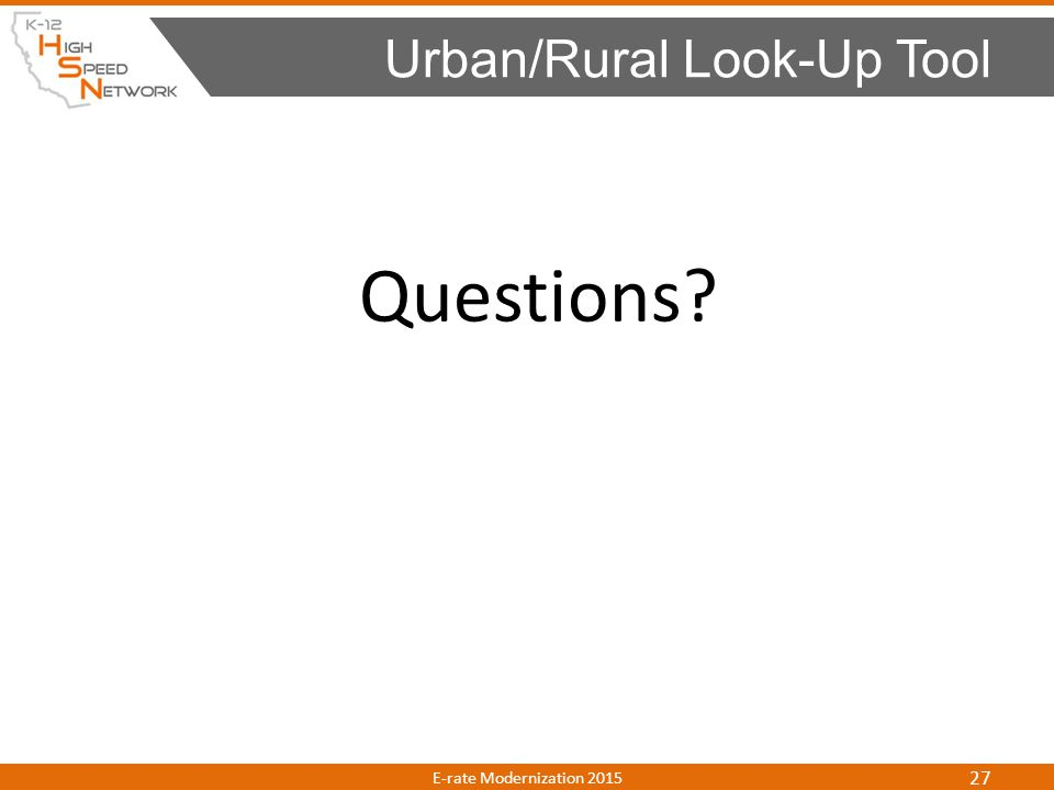 Urban/Rural Look-Up Tool