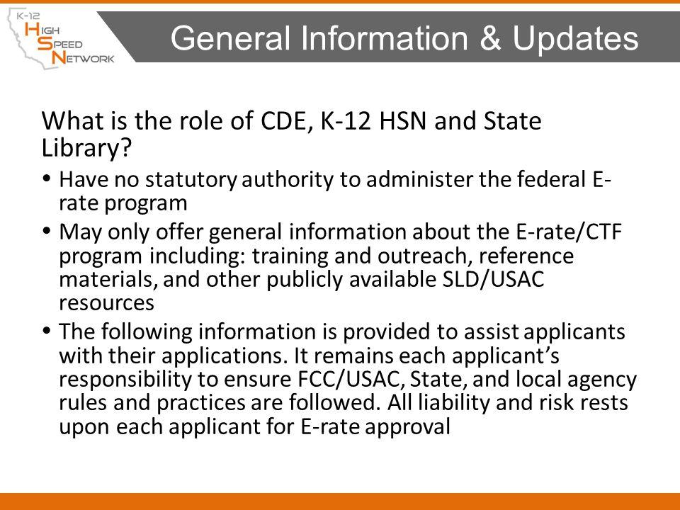 General Information & Updates