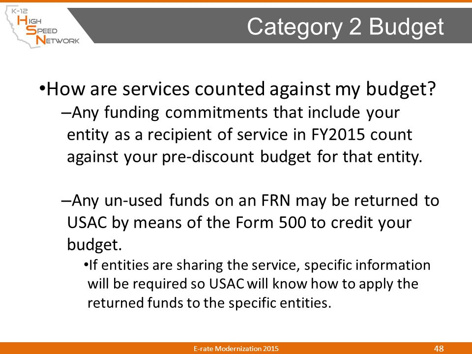 Category 2 Budget How are services counted against my budget