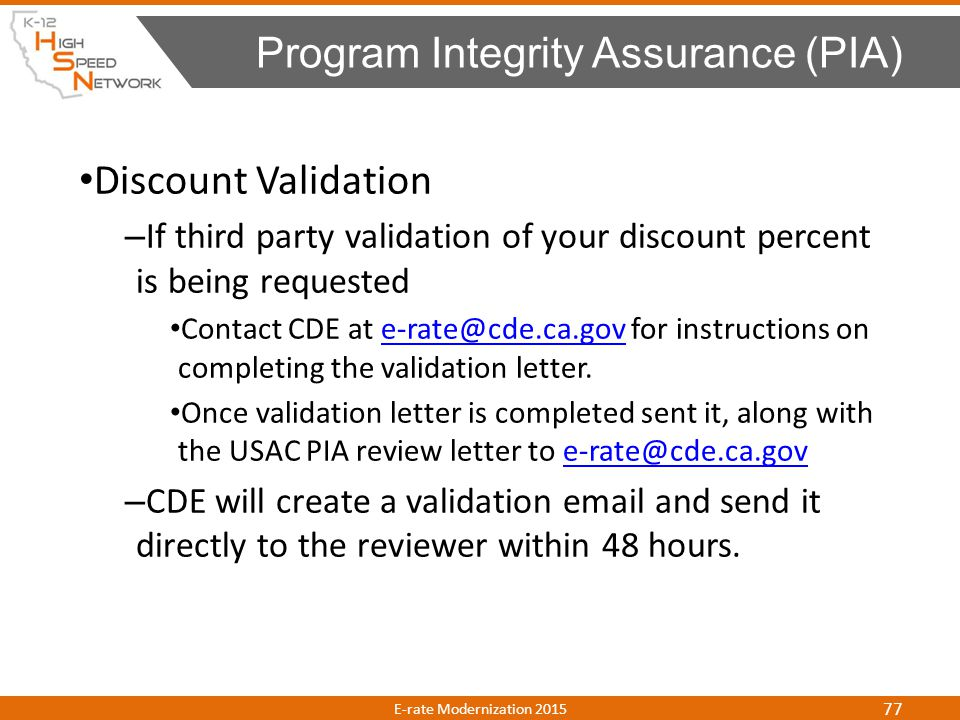 Program Integrity Assurance (PIA)