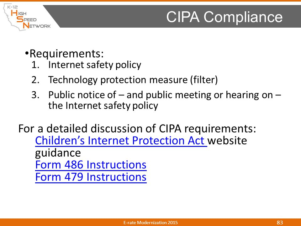 CIPA Compliance Requirements: