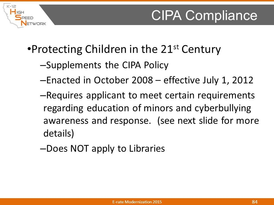 CIPA Compliance Protecting Children in the 21st Century