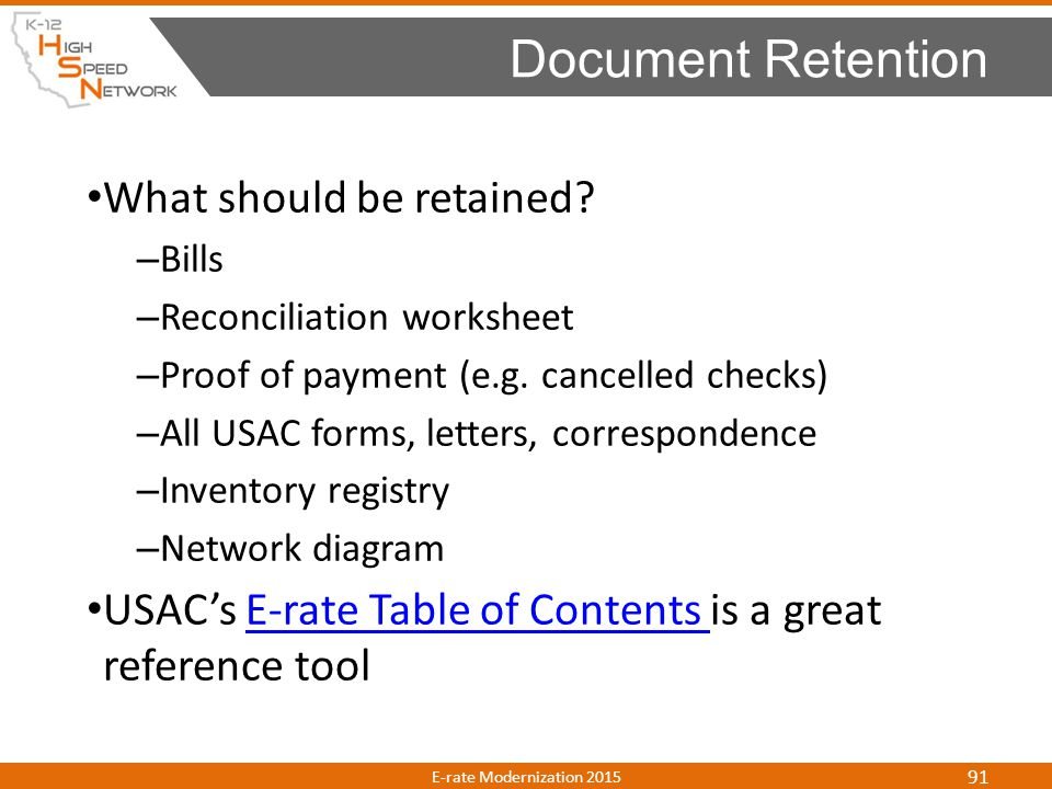 Document Retention What should be retained
